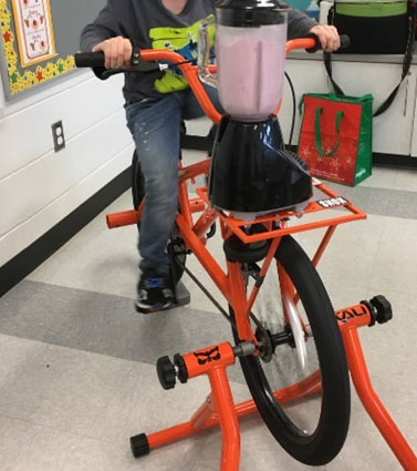 Cresswell Smoothie bike initiative