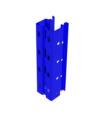 """Bolted single post in 3.25"""" x 3.25"""" 13Ga"""