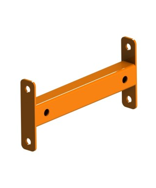 Row spacer for 3.25'' post of 8'' orange