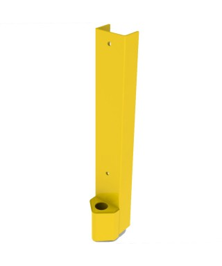"""Post protector 24"""" with 4'' bullnose for 3.25"""" welded frame"""
