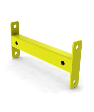 Row spacer for 3.25'' post of 12'' safety yellow