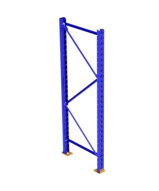 """Bolted frame 42""""x204"""", 3.25""""x3.25""""-13ga dark blue NOT ASSEMBLED"""
