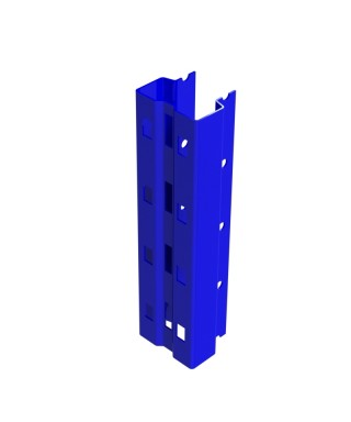 """Bolted single post 192"""" in 3.25"""" x 2.69"""" 14Ga painted dark blue"""